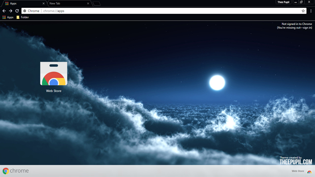 Above The Clouds Chrome Theme