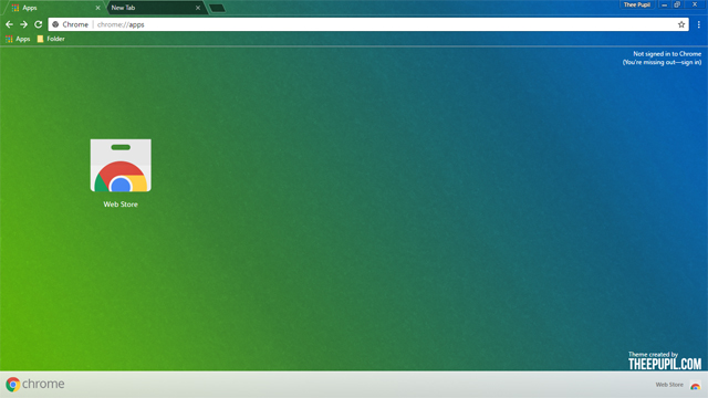 Blue And Green Chrome Theme