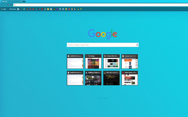 Blue Gradient With Diagonal Lines Chrome Theme