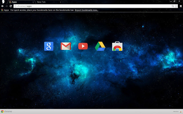 Blue Nebula Chrome Theme