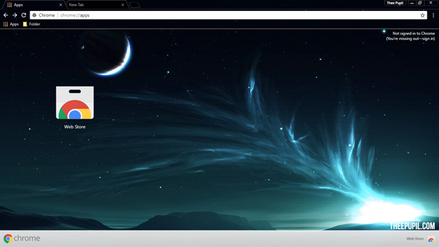 Celestial Lights Chrome Theme