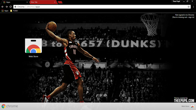 DeMar DeRozan Chrome Theme