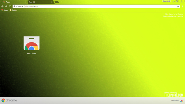 Green And Yellow Chrome Theme