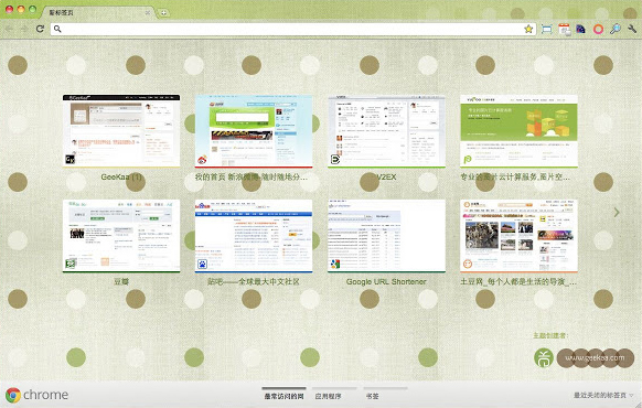 Green Pop Chrome Theme