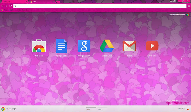 Hearts Google Chrome Theme