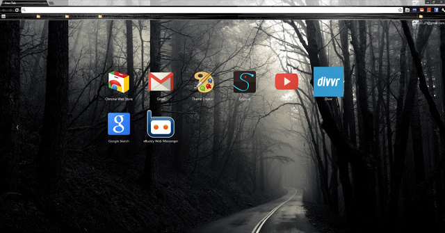 Into The Mist Chrome Theme