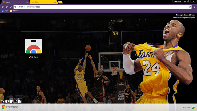 Kobe Bryant Chrome Theme