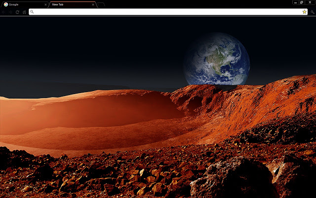 Martian Landscape Space Chrome Theme
