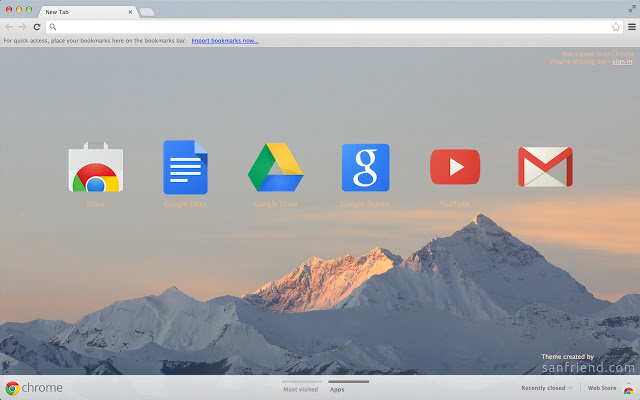 Mount Everest Chrome Theme