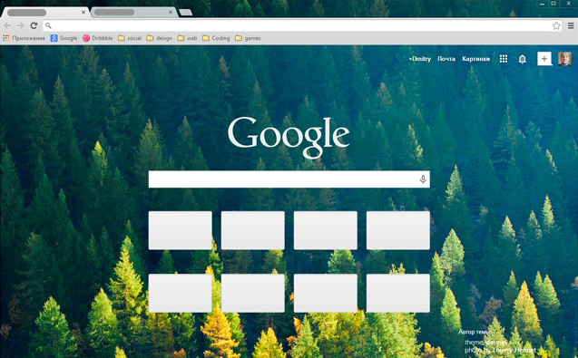 Nordic Forest Chrome Theme