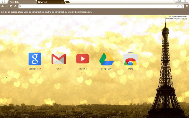 Paris Theme Love Is In The Air Google Chrome Theme