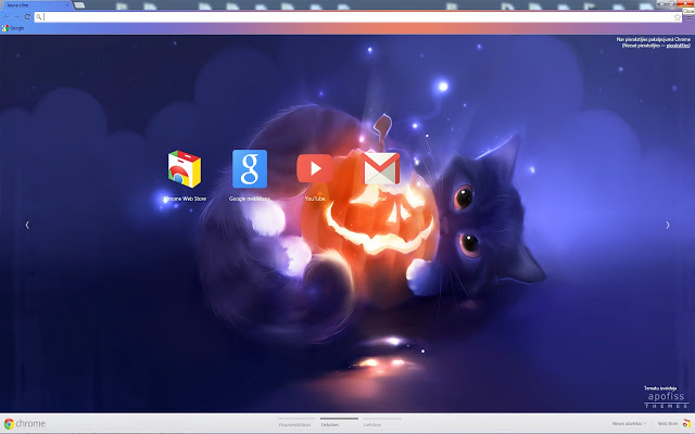 Pumpkin Cat Google Chrome Theme