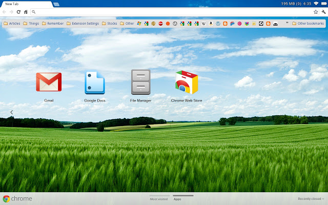 Summer Fields Chrome Theme