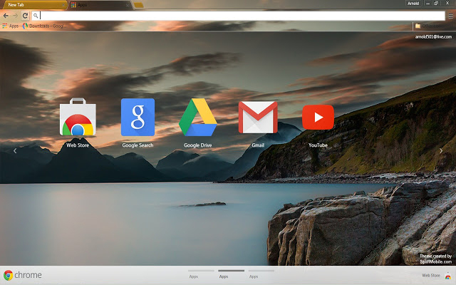 Sunset Lake Chrome Theme