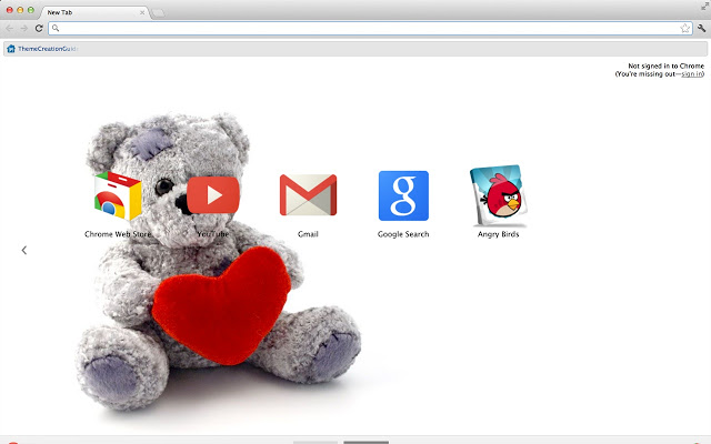 Teddy Bear Google Chrome Theme