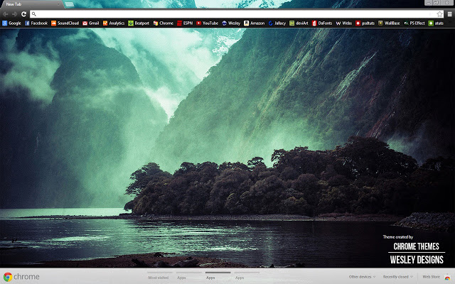 Water's Valley Chrome Theme