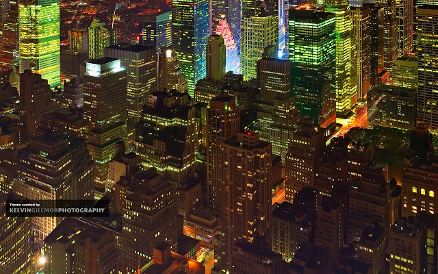 A New York Night Chrome Theme