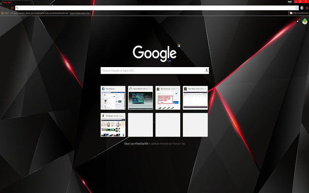Black Shards Chrome Theme