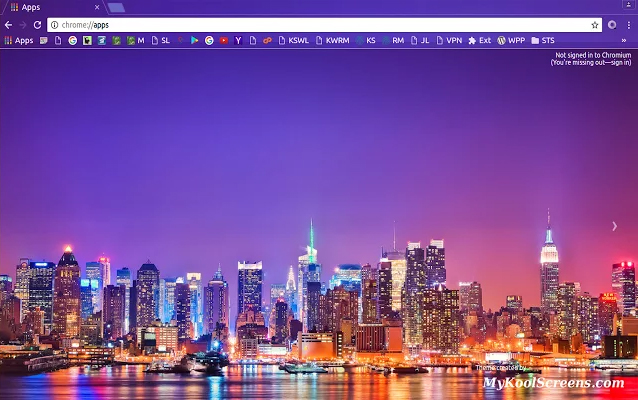 City Lights Chrome Theme