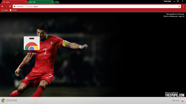 Cristiano Ronaldo Chrome Theme