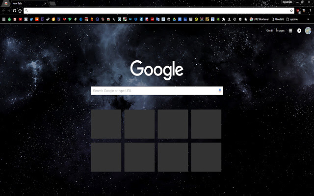 Dark Space Chrome Theme