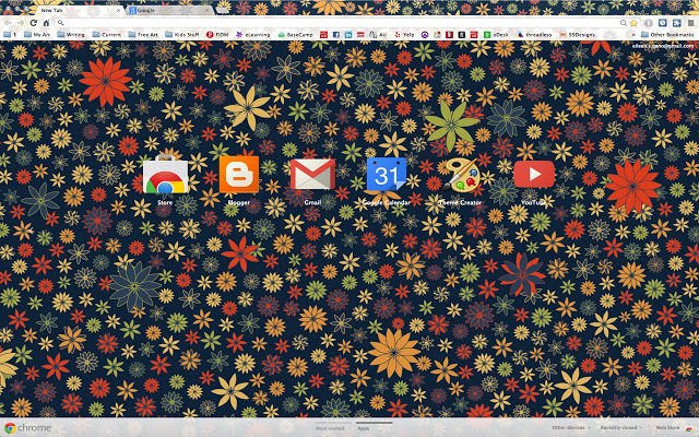Flower Power Chrome Theme