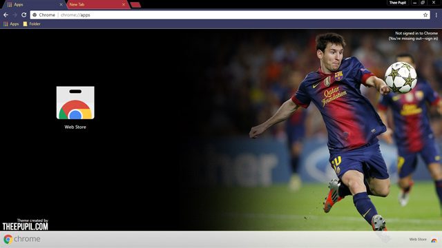 Lionel Messi Chrome Theme