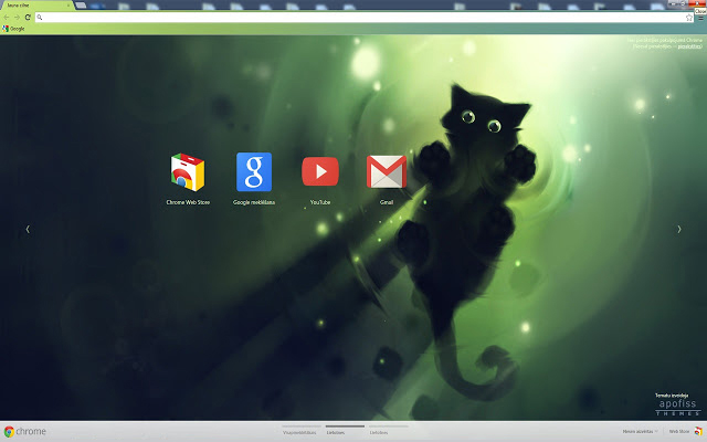 Cat Marchin On Chrome Theme