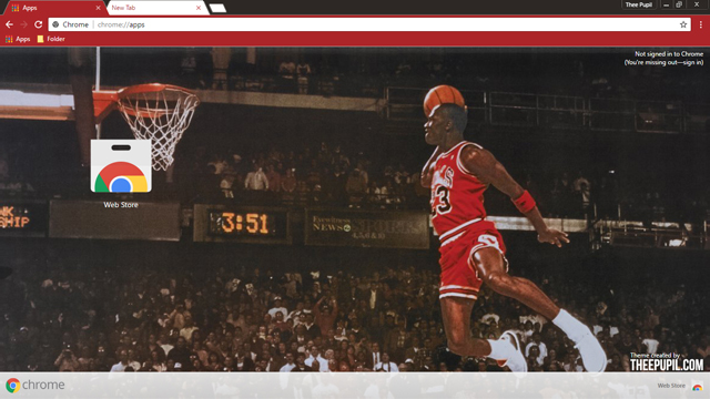 Michael Jordan Chrome Theme