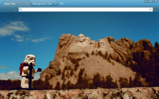 Minifig Vacation At Mount Rushmore Chrome Theme