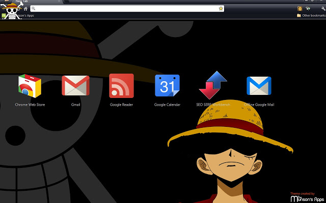 One Piece: Monkey D. Luffy Chrome Theme