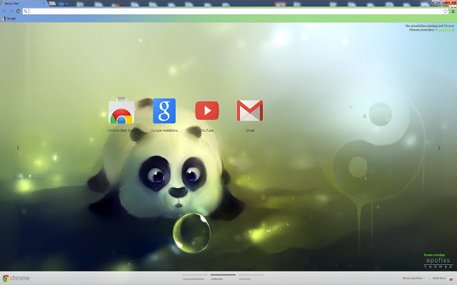 Panda Dumpling Google Chrome Theme