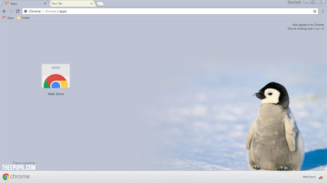 Penguin Google Chrome Theme