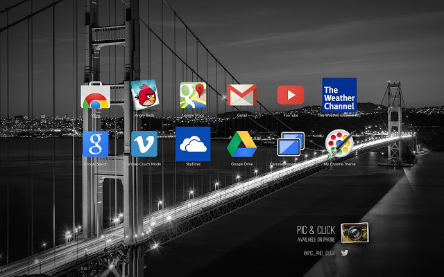 Pic And Click San Francisco Chrome Theme