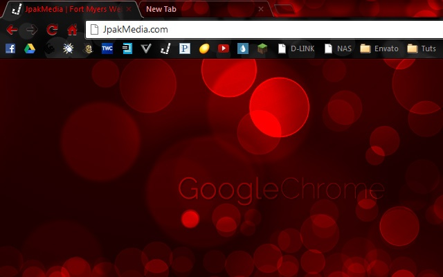 Red Bokeh Chrome Theme