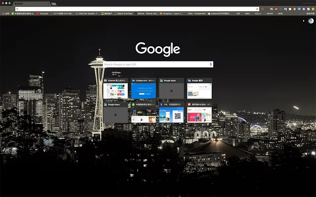 Seattle Night Google Chrome Theme