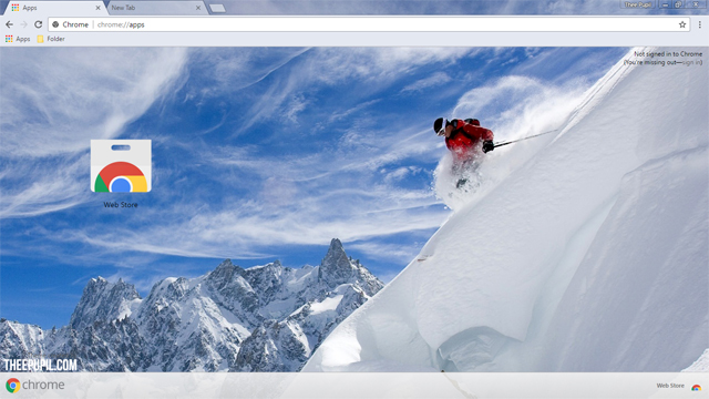 Skiing Chrome Theme