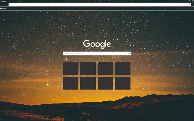 Sky At Night Chrome Theme