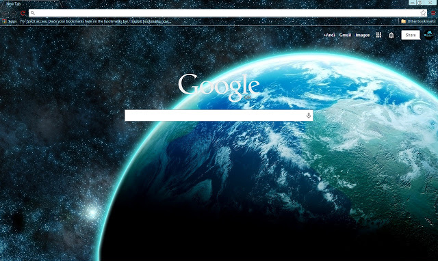 Space Google Chrome Theme