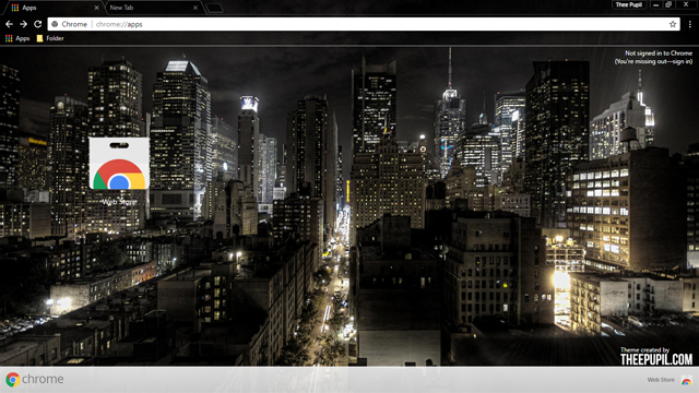 Welcome to New York City Google Chrome theme