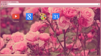 Tumblr Roses Chrome Theme