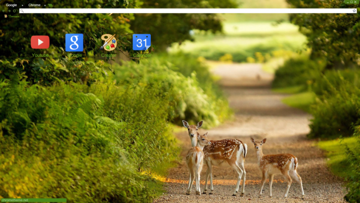 Deer Family Chrome Theme