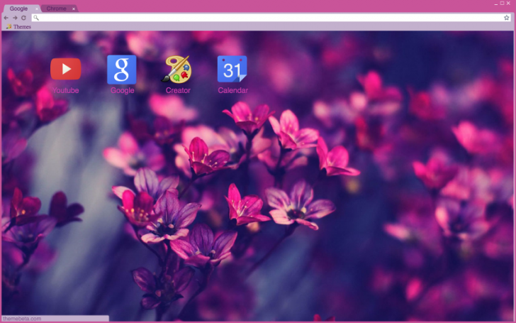 Purple Flowers Chrome Theme