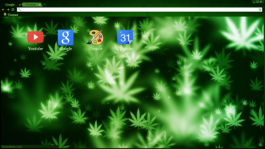 Pot Leafs Chrome Theme