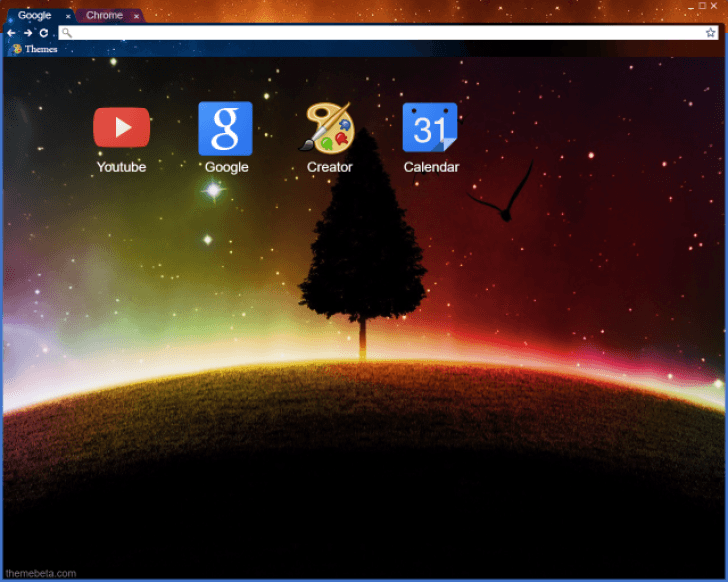 Beyond The Stars Chrome Theme