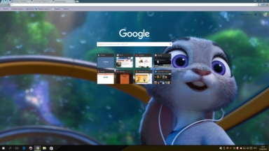 Zootopia Judy Chrome Theme