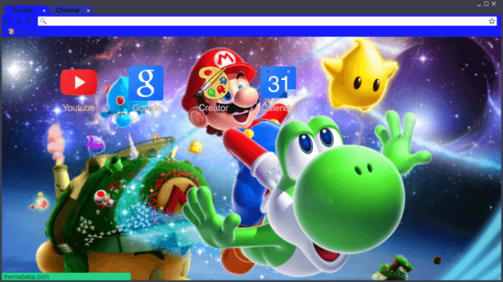 Super Mario Galaxy Chrome Theme