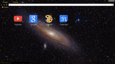 Andromeda Galaxy Chrome Theme