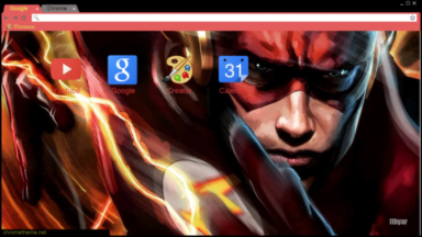 The Flash – Fastest Man Alive Chrome Theme