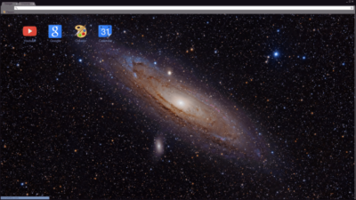 Space Galaxy Chrome Theme
